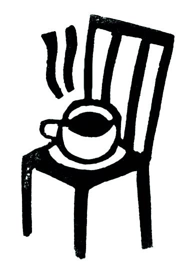 Cafe sentado