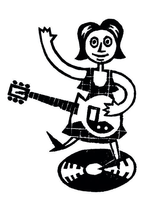 Chica  con guitarra
